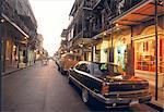 Aux États-Unis, quartier français de la Nouvelle-Orléans, en Louisiane, dans la nuit