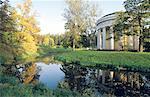Russia, Saint Petersburg, Pavlovsky Castle, park and round house