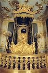 Germany, Herrenschiemsee, bed of Louis II