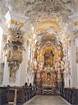 Allemagne, intérieur de Wieskirche