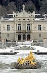 Germany, Lindenhof Castle under the snow