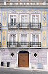 Avant de bâtiment du Portugal, Lisbonne, avec des azulejos