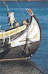 Portugal, Lisbon, Detail of fishing boat