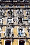 Portugal, Lisbonne, façade de bâtiment