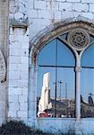 Portugal, Lisbonne, fenêtre de monument religieux