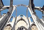 Portugal, Lisbon, Church ruin in the Bairro Alto neighborhood