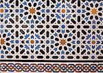 Espagne, Andalousie, Séville, azulejos de l'Alcazar