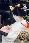 Japan, Kyoto  ,young geisha girl from behind