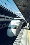 Japan, Tokyo, train station and Shinkanzen Express