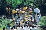 Indonesia, Bali, Manenga, procession for an Odalan