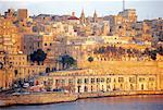 Malte, La Valette, vue depuis le Fort Senglea