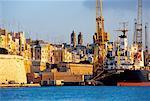 Malta, Grand Harbour, docks