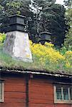 Suède, Stockholm, le Musée en plein air de Skansen et maisons historiques