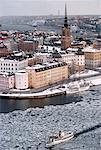 Sweden, Stockholm, Riddarholmen, aerial view