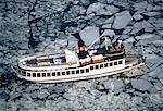 Sweden, Stockholm, Aerial view of icebreaker