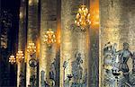 Sweden, Stockholm, Decorated columns at City Hall