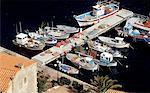 France, Corsica, Bonifacio, view of the marina