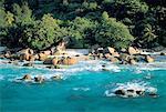 Seychelles, pink granite rocks