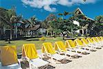 Mauritius, deck chairs