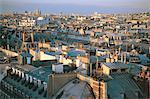 France, Paris, vue sur les toits