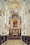Allemagne, Bavière, Wiese barocco intérieur de l'église