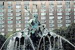 Germany, Berlin, Rathausplatz, Neptune fountain