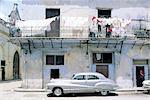 Cuba, Havana, old house, old american cars