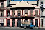 Cuba, Havan, Partagas factory, old truck