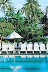 Indonesia, Bali, Nusa Dua, Club Med swimming pool