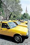 Turkey, Istanbul, Taxis near St Sophia basilica
