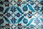 Turkey, Istanbul, Eyüp Sultan Camii, detail of faience