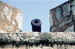 Dominican Republic, Santo Domingo, gun on the fortress