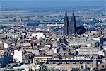 France, antenne d'Auvergne, Clermont-Ferrand, de la cathédrale