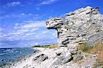 Sweden, Gotland, Hoburgen, Raukar rocks