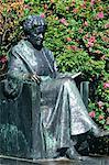 Sweden, Wärmland, Rottneros park, statue of Selma Lagerlöf