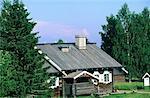 La Finlande, la Carélie, Parppeinvaara, maison de chanteurs de rune