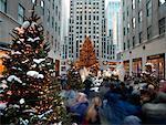 Rockefeller Center at Christmas New York City, New York USA