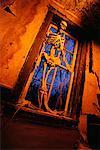 Skeleton in Haunted House