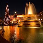 Eau fontaine Trafalgar Square Londres Angleterre