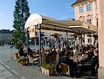 Cafe en vieille ville Prague, République tchèque