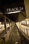 Subway Platform and Tracks New York City, New York, USA