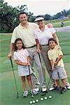 Portrait de famille sur le parcours de Golf