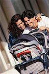 Parents ont accès à poussette