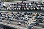 Traffic on Freeway, Los Angeles California, USA