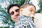 Portrait d'un père et son fils