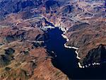 Aperçu du lac Mead et Hoover Dam Las Vegas, Nevada Etats-Unis