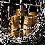 Argent nid de fil de fer barbelé