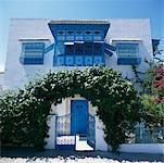 Tunisien maison Sidi Bou Saïd, Tunisie, Afrique
