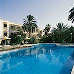 Hôtel et piscine l'Oasis de Tozeur, Tunisie, Afrique