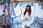 Portrait of Man by Graffiti